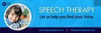 Speech therapy clinic flyer Cartel de 2 × 6 pulg. template