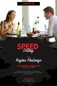 Speed Blind Dating Date Flyer Template