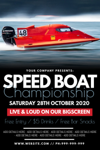 Speed Boat Championship Poster