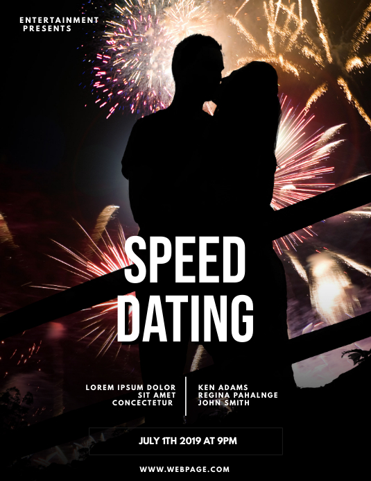 Speed Dating Flyer Template ใบปลิว (US Letter)