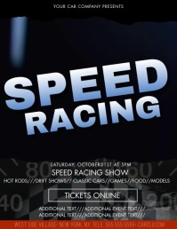 Speed Racing Street Racing Flyer Template Iflaya (Incwadi ye-US)