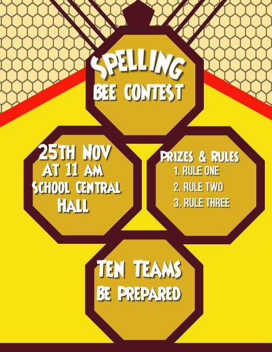 Spelling Bee, School Poster
