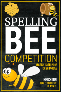 Spelling Bee Flyer template,Event poster template