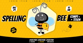 SPELLING BEE BANNER Facebook Shared Image template