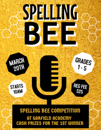 Spelling Bee Competition Flyer, School Posters