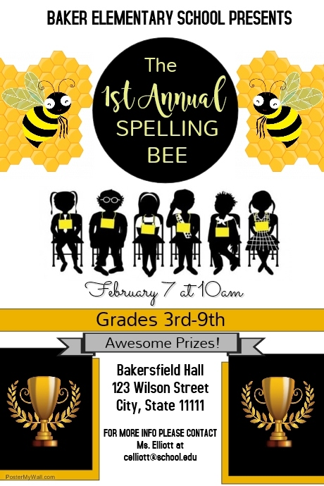 spelling bee competition template