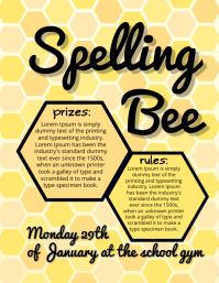 Spelling Bee Competition Flyer Template