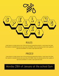 Spelling Bee Contest Flyer Template