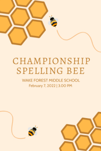 SPELLING BEE Poster template