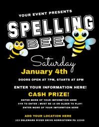 Customizable Design Templates For Spelling Bee Contest