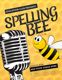 Spelling bee flyer templates,Educational flyers