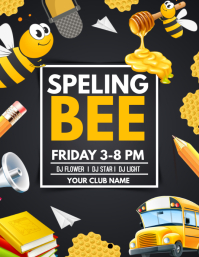 Spelling bee flyers template