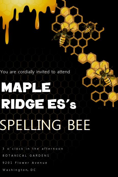 Spelling Bee Invitation