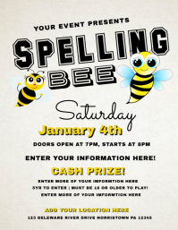 750 customizable design templates for spelling bee for Spelling bee invitation template
