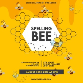 Spelling Bee Video Design Template Instagram