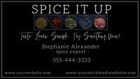 Spice Cooking Chief Business Card Besigheidskaart template