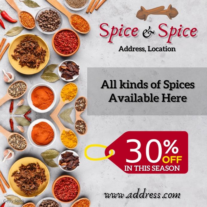 Spice shop Instagram-bericht template