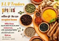 spices3 Carte postale template
