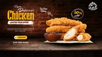 Chicken Finger Ads Facebook-covervideo (16:9) template