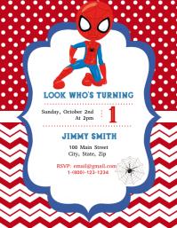 13 020 Spiderman Party Customizable Design Templates