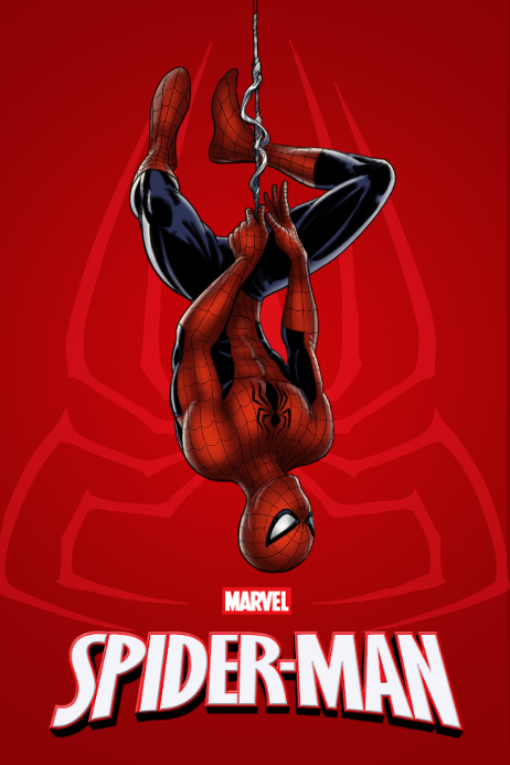 Spider Man Poster Плакат template