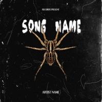 spider rap mixtape album cover art template Albumcover