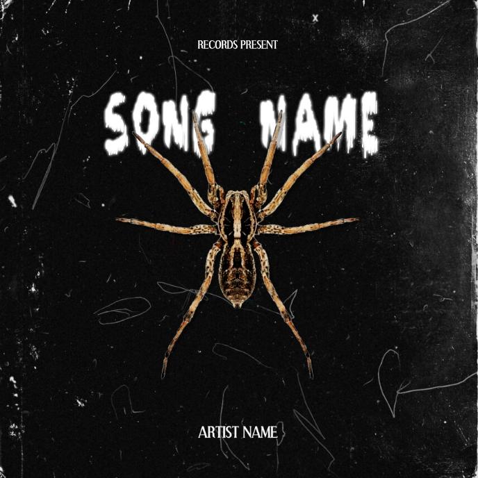 spider rap mixtape album cover art template