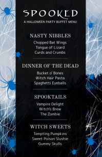 Spider Web Half Page Wide Menu