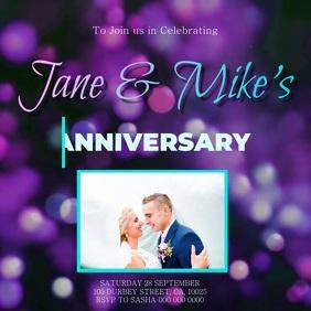 wedding anniversary social media template