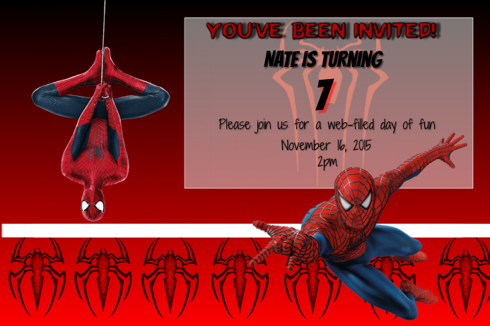 spiderman birthday party template postermywall