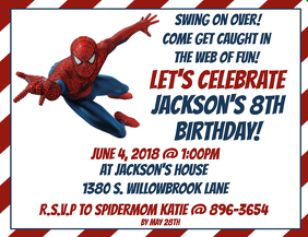 Customizable Design Templates for Spiderman Party | PosterMyWall