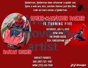 SPIDERMAN BOYS INVITATION
