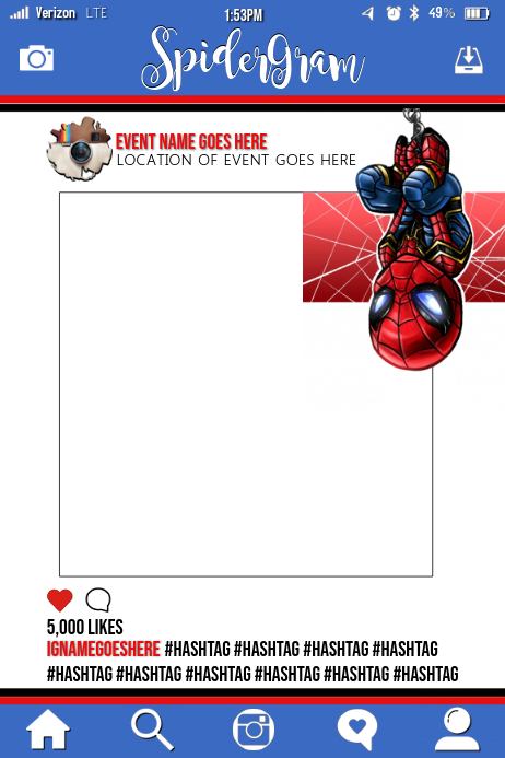 Copy of Spiderman Party Prop Frame   PosterMyWall