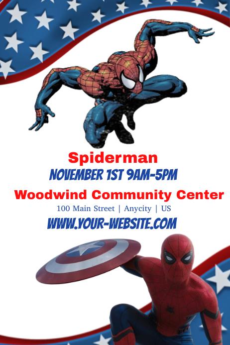 Spiderman Плакат template
