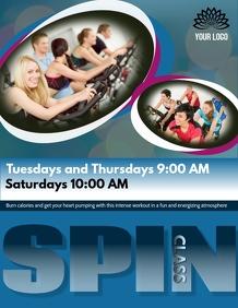 Spin class flyer