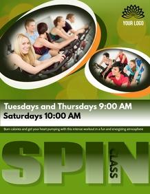 Spinning class flyer