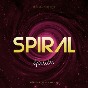 Spiral CD Cover Template