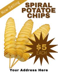 Spiral Potato Chips Flyer Template Løbeseddel (US Letter)