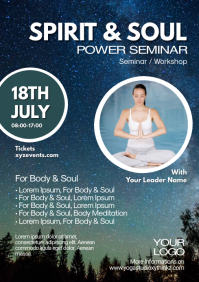 Spirit and Soul Event Seminar Course Workshop A4 template