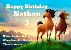 Spirit Birthday Invitations
