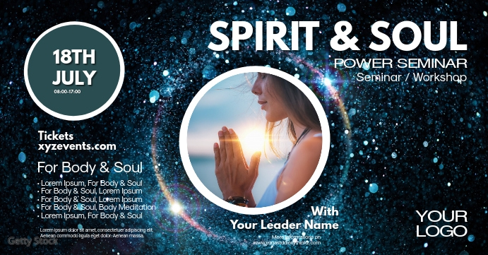 Spirit Soul Power Seminar Spiritual Event Ad Facebook begivenhed cover template