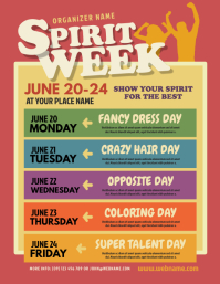 Spirit Week Flyer template