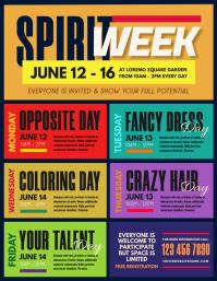 Spirit Week Flyer Folheto (US Letter) template