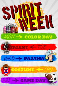 customizable design templates for spirit week template postermywall