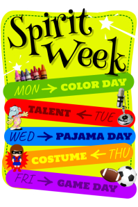 customizable design templates for spirit week postermywall