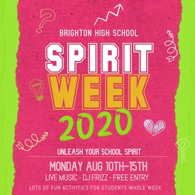 Spirit Week High School Social Media Template
