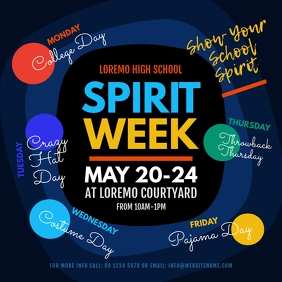 Spirit Week Instagram Post