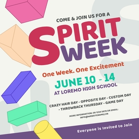 Spirit Week Instagram Post