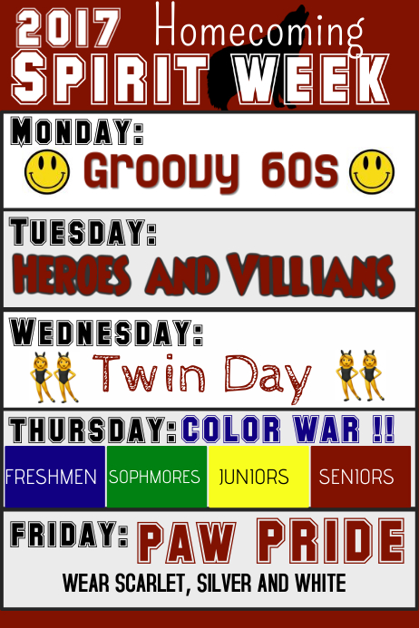 spirit week customize template