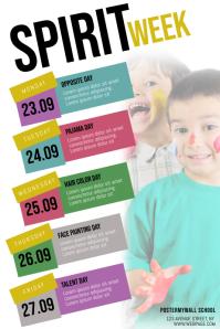 Spirit Week Schedule Flyer Template